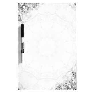 Floral mandala-style, blossoms light gray / grey dry erase boards