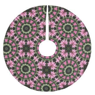 Floral mandala-style, christmas 2.2 brushed polyester tree skirt