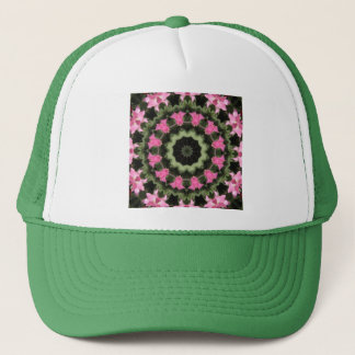 Floral mandala-style, pink blossoms 2.2 trucker hat