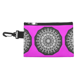 Floral mandala-style, Tulips Black, white and gray Accessories Bag