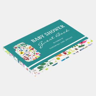 Floral Mason Jar Baby Shower Guest Book