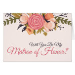 Floral Matron of Honour Request Card