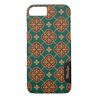 Floral medieval tile pattern CC0906 Augustus Pugin iPhone 8/7 Case