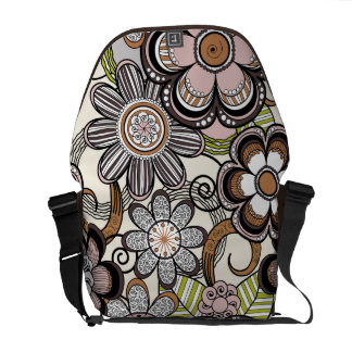Floral Mehndi Art Design, Brown Tones Commuter Bag