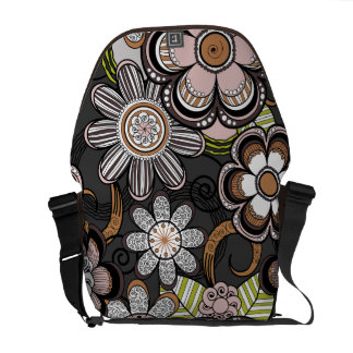 Floral Mehndi Art Design, Brown Tones Commuter Bags