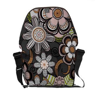 Floral Mehndi Art Design, Brown Tones Commuter Bags