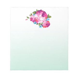 Floral Mint Ombre Notepad