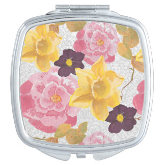 floral mirror mirror for makeup