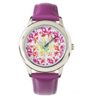 Floral mix watch