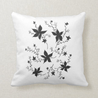 Floral monochrome fantasy cushion
