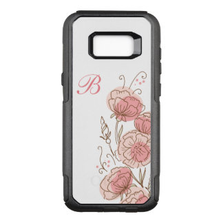 Floral Monogram Art OtterBox Commuter Samsung Galaxy S8+ Case