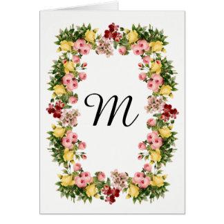 Floral Monogram Card