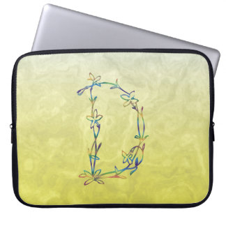 FLORAL MONOGRAM D LAPTOP SLEEVE