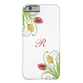 Floral Monogram Design Barely There iPhone 6 Case