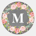 Floral Monogram   Favour Labels