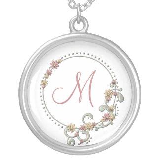 Floral Monogram Necklace
