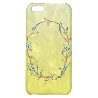 FLORAL MONOGRAM O COVER FOR iPhone 5C