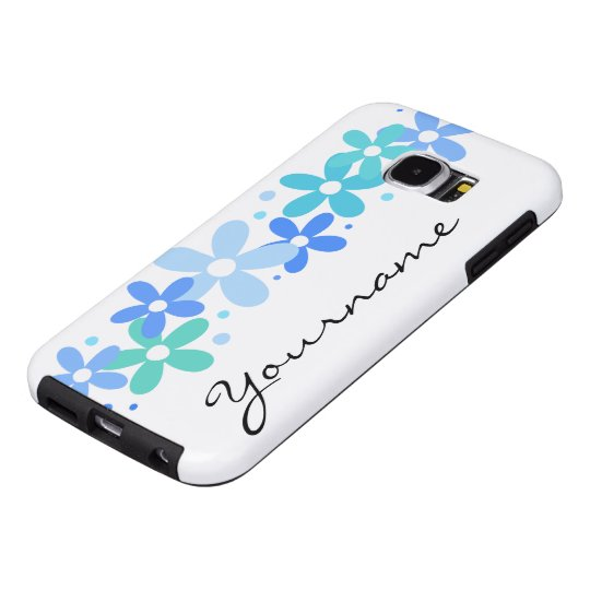 Floral Monogram Sstyle Samsung Galaxy S6 Cases