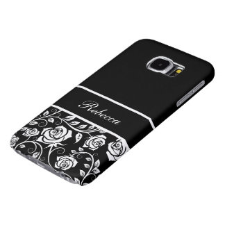 Floral Monogram Style Samsung Galaxy S6 Cases