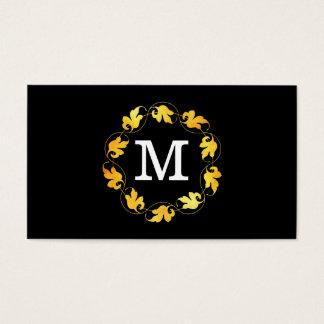 Floral Monogram / Variation | Lux (gold) Business Card