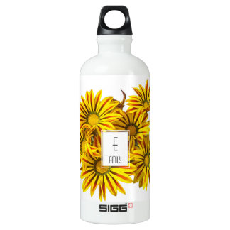 Floral Monogram Water Bottle Gazania Flowers SIGG Traveller 0.6L Water Bottle