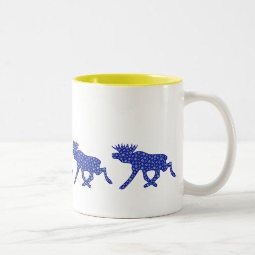 Floral Moose Coffee Mug