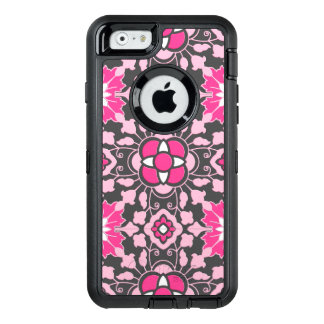 Floral Moroccan Tile, Fuchsia Pink & Gray / Grey OtterBox iPhone 6/6s Case