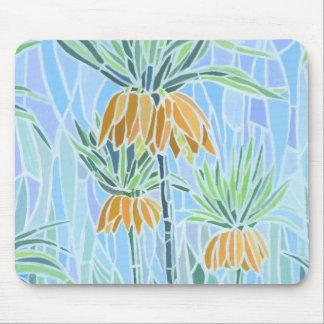 Floral Mosaic Design Mouse Pad
