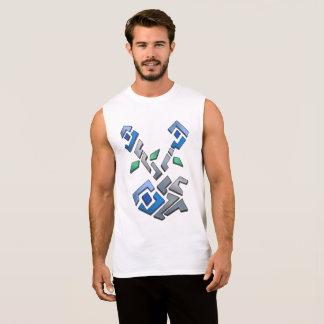 Floral Mosaic Sleeveless Shirt