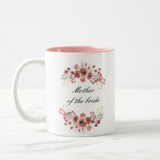 Floral Mother Of The Bride Mug