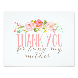 Floral Mother Thank You 11 Cm X 14 Cm Invitation Card