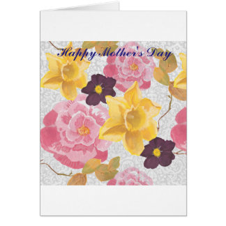 floral 'mothers day' card