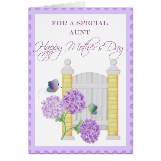 Floral Mother's Day Card for Special Aunt