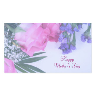 Floral Mother's Day Gift Tag Pack Of Standard Business Cards