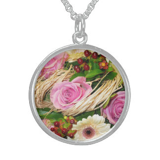 Floral Mother's Day Sterling Silver Necklace