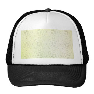 Floral Motif against a green textured background Cap