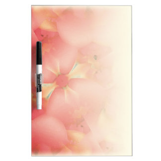 Floral Motif Dry Erase Board