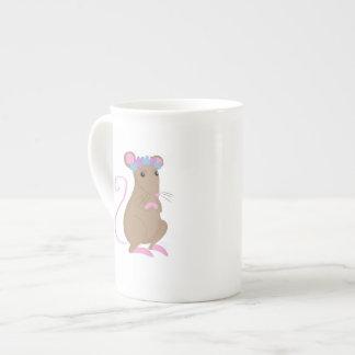 Floral mouse tea cup