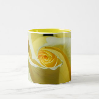Floral Mug...Yellow roses Two-Tone Coffee Mug