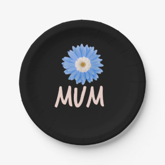 Floral Mum Paper Plate