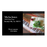 Floral Music Book Rose On Piano Pack Of Standard Business Cards