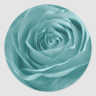 Floral Nature Abstract  Photo Vibrant Aqua Rose Stickers