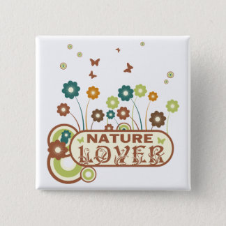 Floral Nature Lover 15 Cm Square Badge