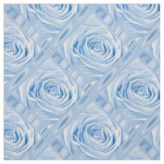 Floral Nature Photo Pretty Light Blue Rose Blocks Fabric