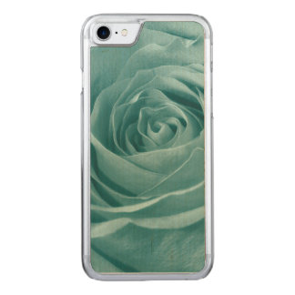 Floral Nature Photo Vibrant Aqua Rose Carved iPhone 8/7 Case