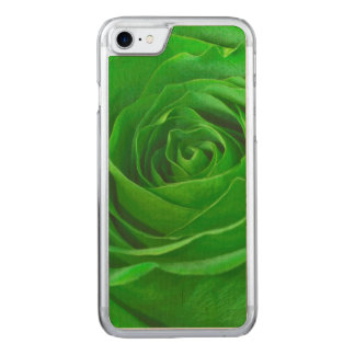 Floral Nature Photo Vibrant Emerald Green Rose Carved iPhone 7 Case