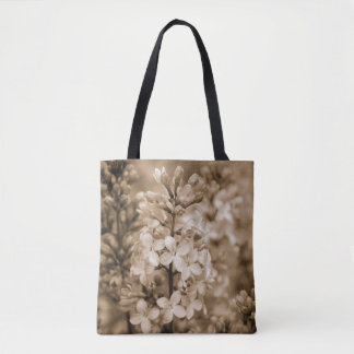 Floral Nature Photography Sepia Lilacs Tote Bag