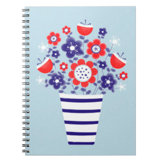 floral nautical notebook