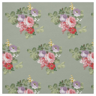Floral Olive background fabric
