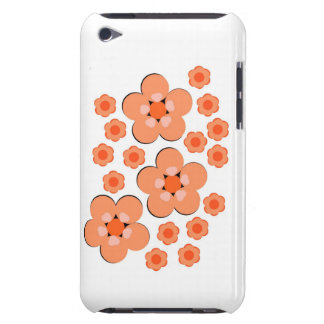 Floral Orange iphone ipod ipad cases iPod Touch Cases